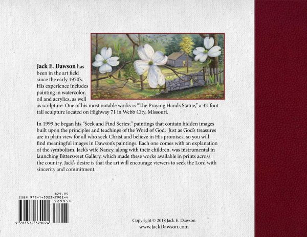 Jack E. Dawson - Seek & Find Paintings 2018 - Back Cover