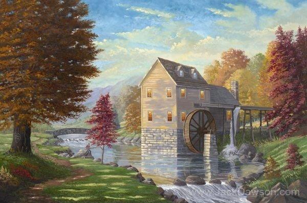 Jordan Creek Mill by Jack E. Dawson