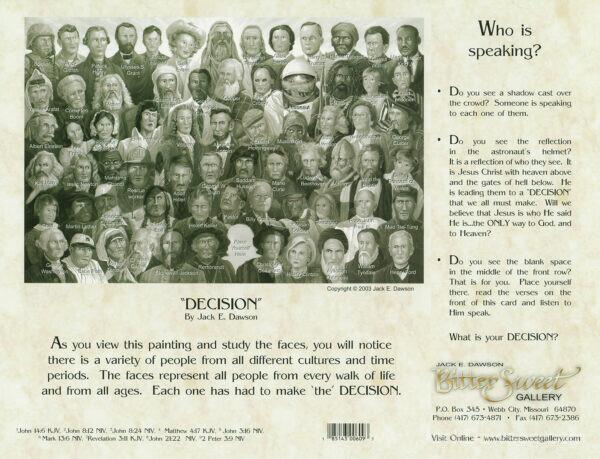 Decision by Jack E. Dawson 9x12 Card Back