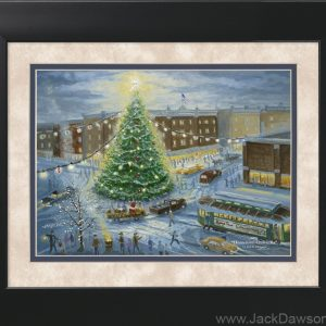 Hometown Christmas by Jack E. Dawson - 11x14 Framed
