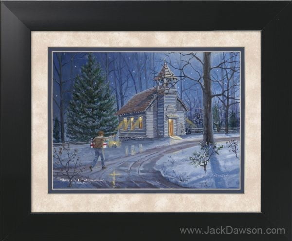 Sharing the Gift of Christmas by Jack E. Dawson - 11x14 Framed