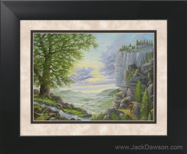 Shepherd's Heart by Jack E. Dawson - 11x14 Framed