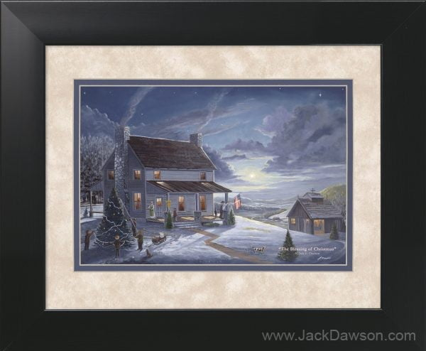 Blessing of Christmas by Jack E. Dawson - 11x14 Framed