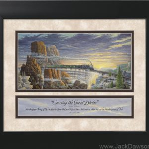 Crossing the Great Divide by Jack E. Dawson - 11x14 Framed