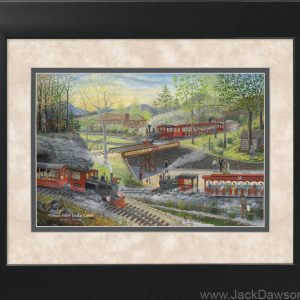 Frisco Silver Dollar Line by Jack E. Dawson - 11x14 Framed