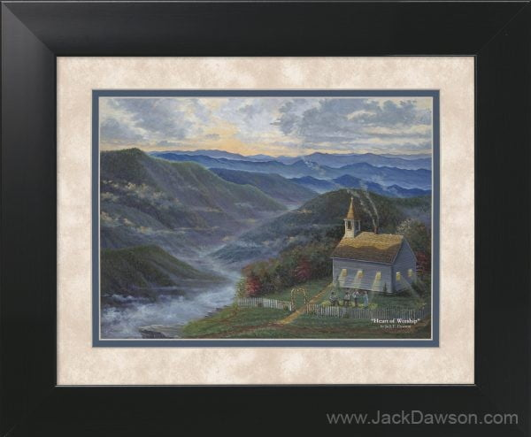 Heart of Worship by Jack E. Dawson - 11x14 Framed