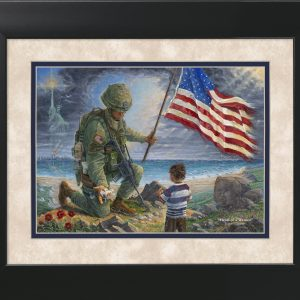 Heart of a Warrior by Jack E. Dawson - 11x14 Framed