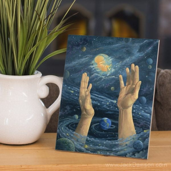 In the Beginning by Jack E. Dawson - 8x10 Tile