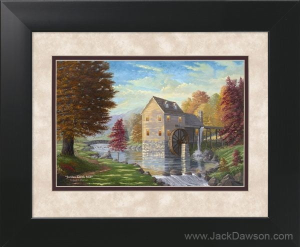 Jordan Creek Mill by Jack E. Dawson - 11x14 Framed