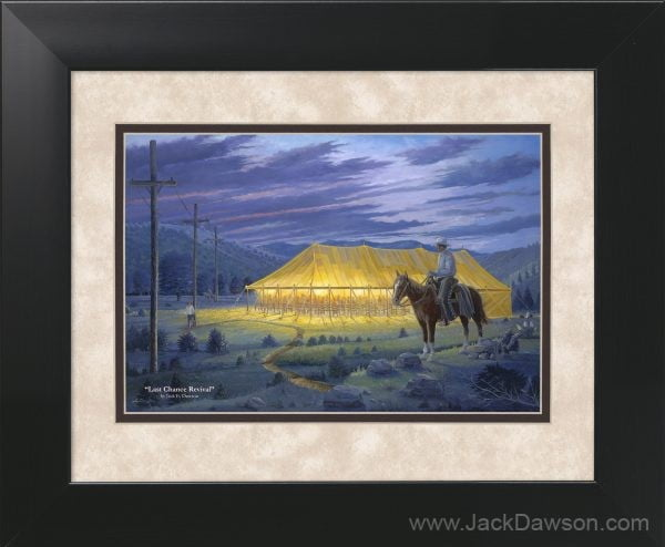 Last Chance Revival by Jack E. Dawson - 11x14 Framed