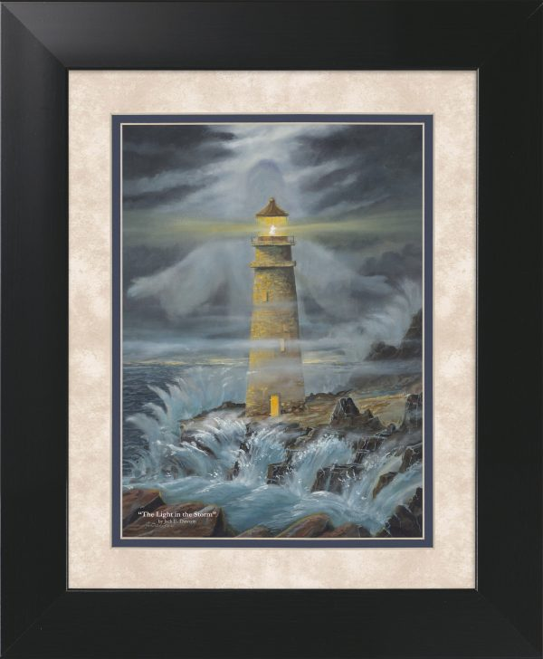 Light in the Storm by Jack E. Dawson - 11x14 Framed