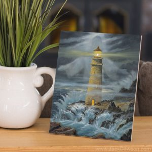 Light in the Storm by Jack E. Dawson - 8x10 Tile