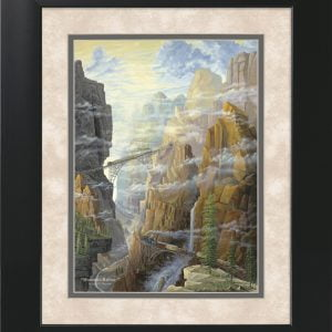 Mountain Railway by Jack E. Dawson - 11x14 Framed