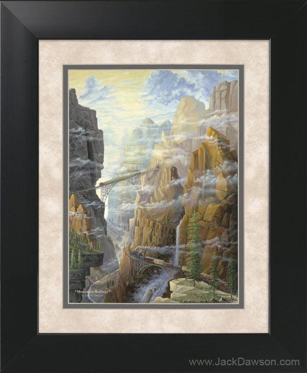 Mountain Railway by Jack E. Dawson - 11x14 Framed