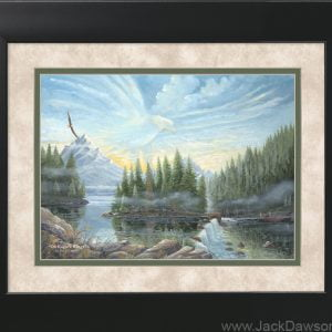 On Eagles Wings by Jack E. Dawson - 11x14 Framed