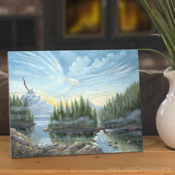 On Eagle's Wings by Jack E. Dawson - 8x10 Tile