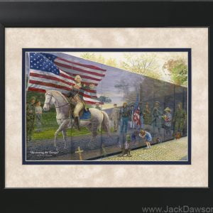 Reviewing the Troops by Jack E. Dawson - 11x14 Framed
