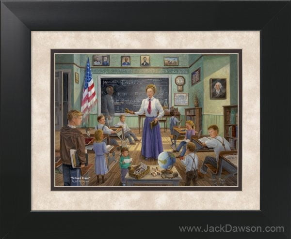School Daze by Jack E. Dawson - 11x14 Framed