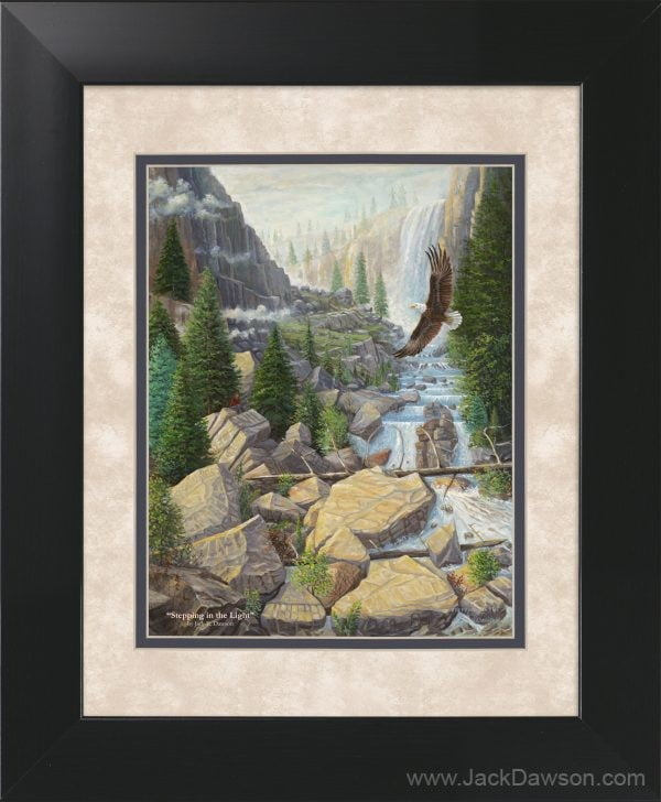 Stepping in the Light by Jack E. Dawson - 11x14 Framed