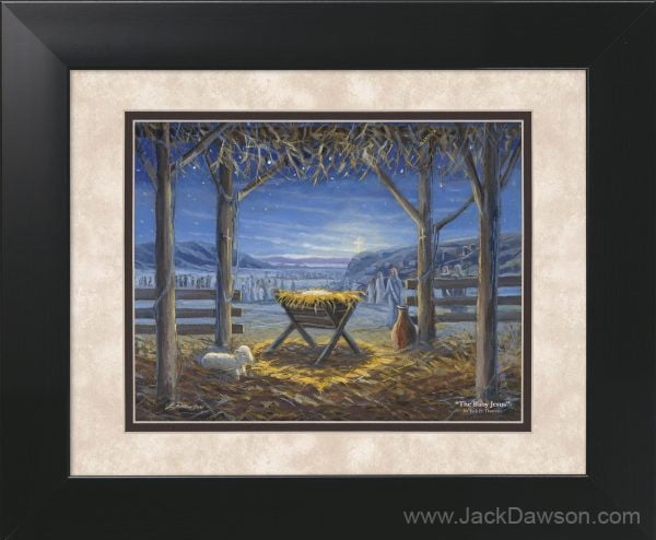 The Baby Jesus by Jack E. Dawson - 11x14 Framed