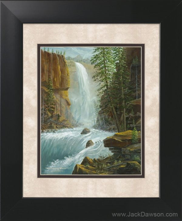 Thundering Waters by Jack E. Dawson - 11x14 Framed