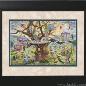 Tree of Life by Jack E. Dawson - 11x14 Framed