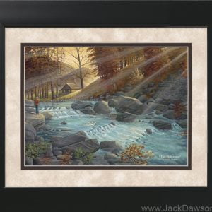Two Fishermen by Jack E. Dawson - 11x14 Framed