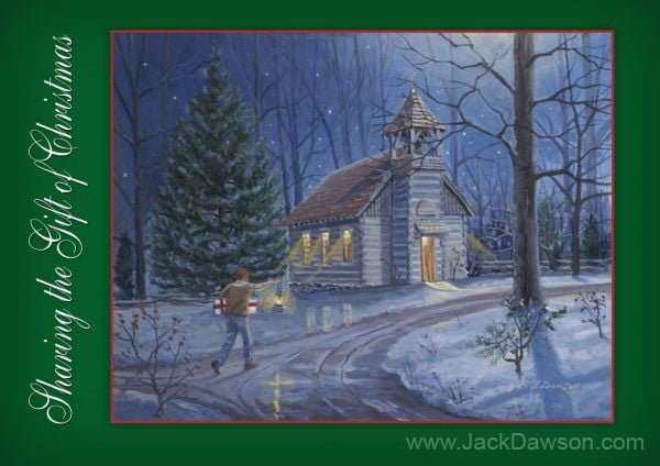 Sharing the Gift of Christmas 5x7 Card Inside