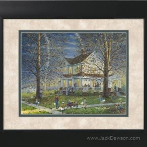 Lights of Home by Jack E. Dawson - 121 - 11x14 Framed