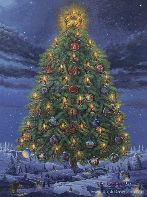 Passion Tree 9x12 Card by Jack E. Dawson