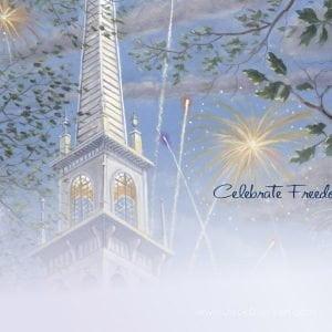 Celebrate Freedom 5x7 Card - Inside by Jack E. Dawson