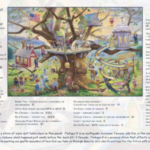 Tree of Life 9x12 by Jack E. Dawson Card with UPC - Inside