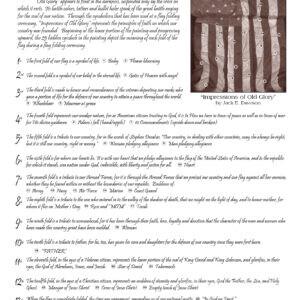 Impressions of Old Glory by Jack E. Dawson 9x12 Card - Back